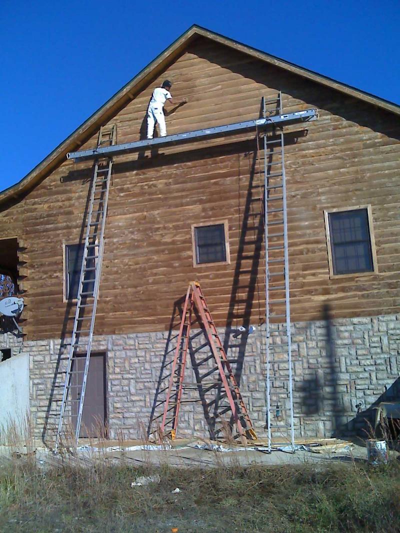 Th generation painting david biring log cabins and