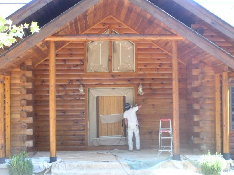 4th generation painting david biring log cabins and for How to stain log cabin
